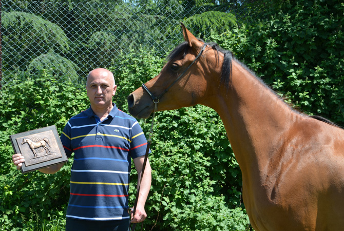 Athena K with owner/breeder, Mr. Dejan Kostadinović