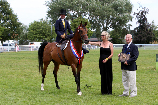 The Trophy was presented to breeder Caroline Reid and to Jessica Amess by David Angold, WAHO TreasurerPhoto: Marilyn Sweet