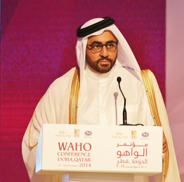 HE Sheikh Mohammed Bin Faleh Al Thani opening the Conference