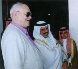 HRH Crown Prince Hamad Bin Isa Al Khalifa with Jay Stream, President of WAHO