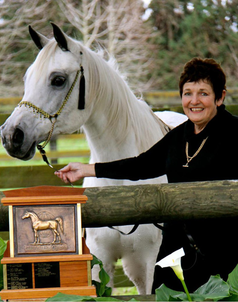 Rula with breeder/owner Beverley Jones.